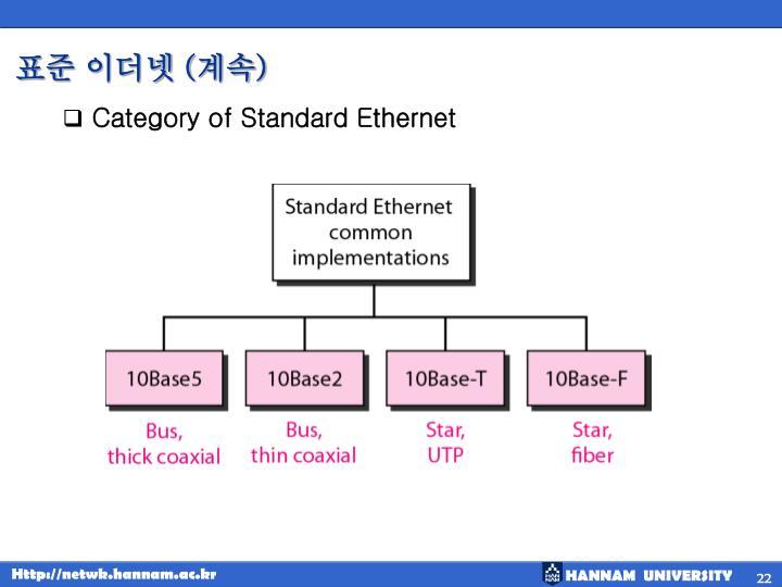 표준 이더넷