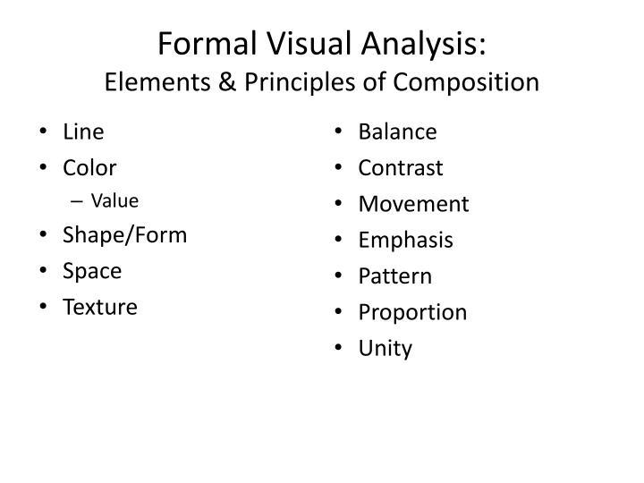 Formal Visual Analysis: