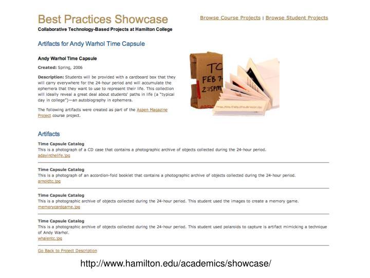 http://www.hamilton.edu/academics/showcase/