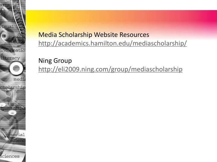 Media Scholarship Website Resources
