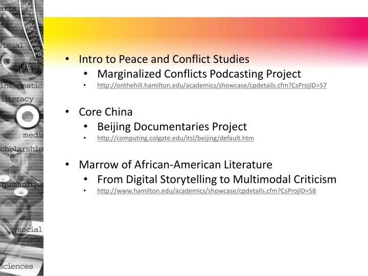 Intro to Peace and Conflict Studies