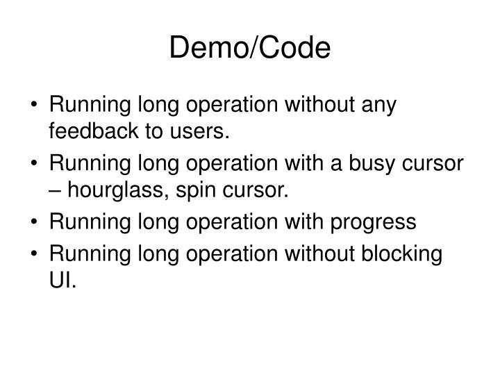 Demo/Code