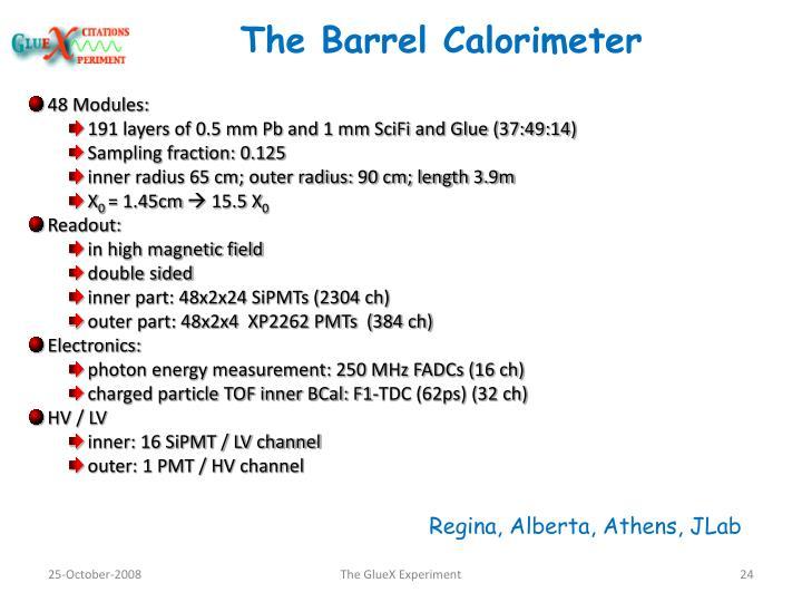 The Barrel Calorimeter