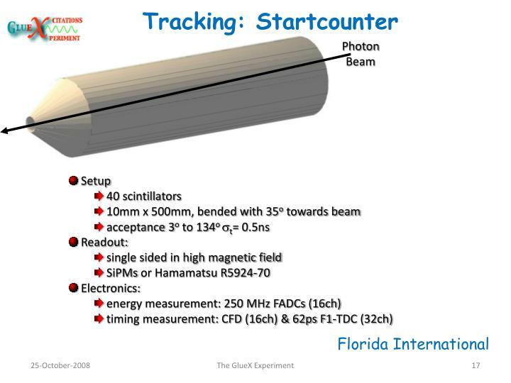 Tracking: Startcounter