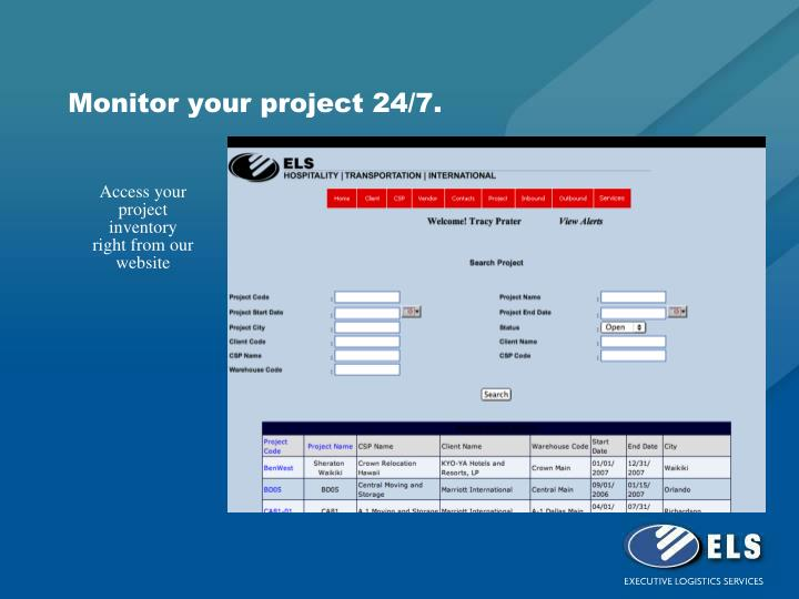 Monitor your project 24/7.