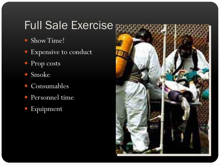 Full Sale Exercise