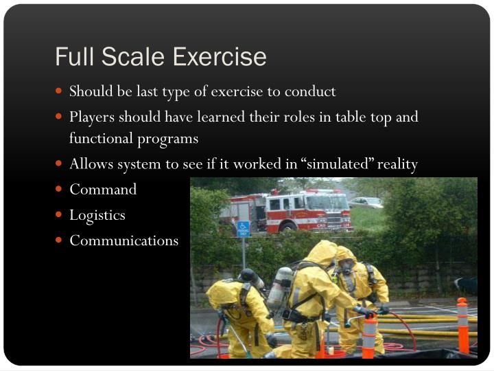 Full Scale Exercise