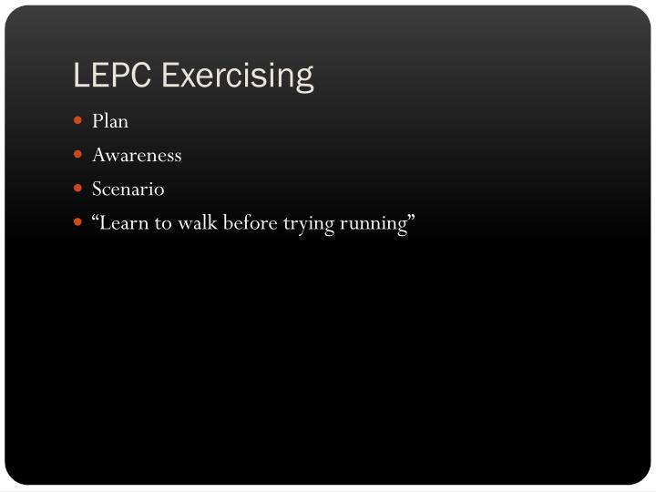 LEPC Exercising