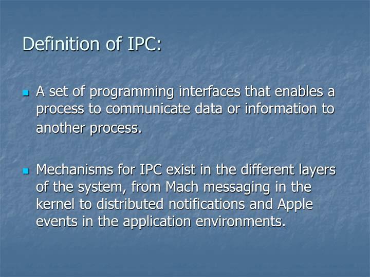 Definition of IPC: