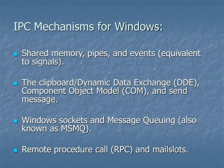 IPC Mechanisms for Windows: