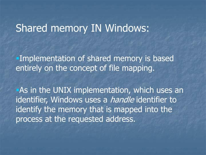 Shared memory IN Windows: