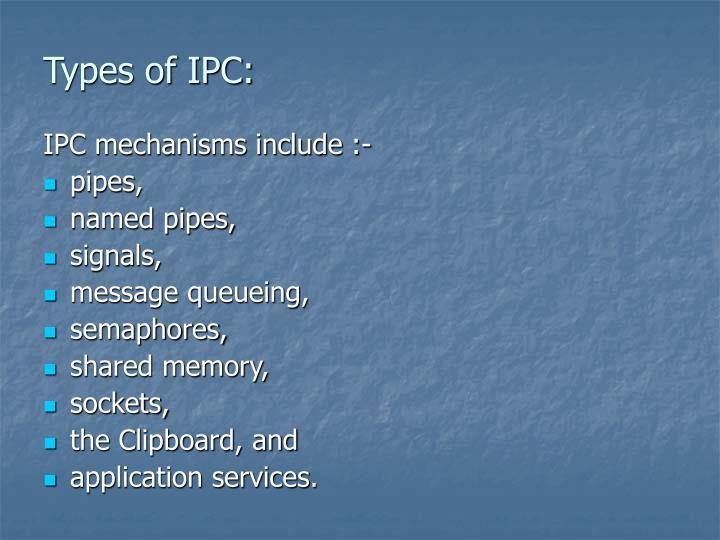 Types of IPC: