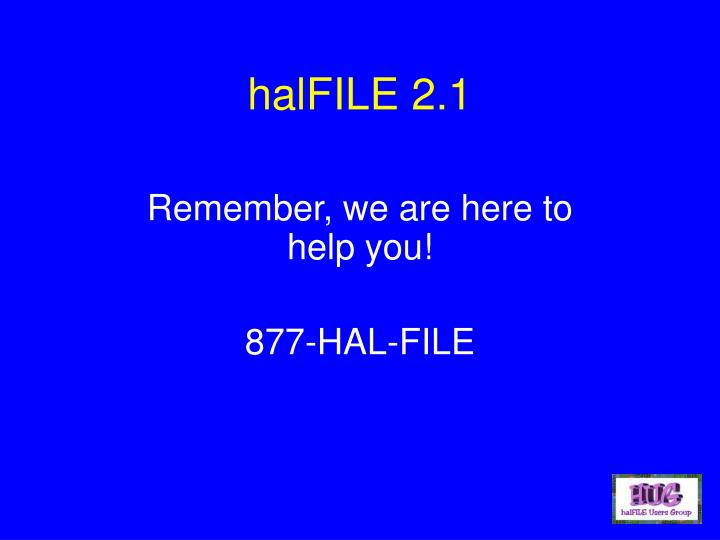 halFILE 2.1