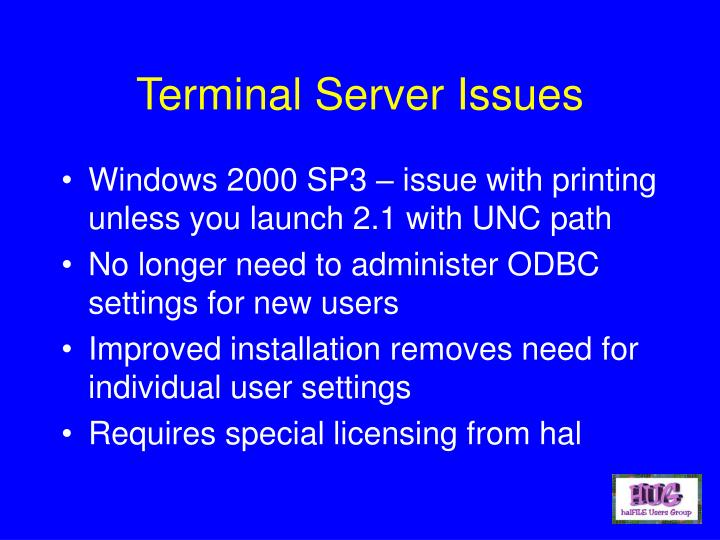 Terminal Server Issues