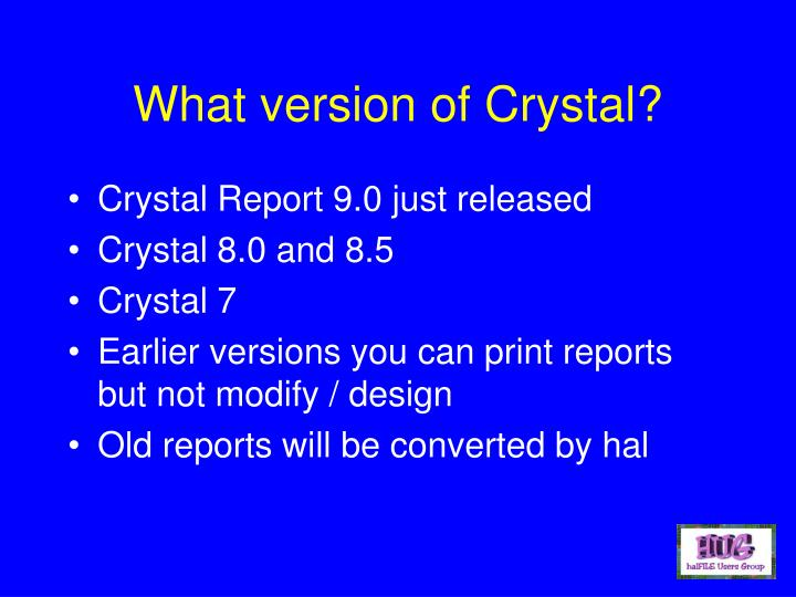What version of Crystal?