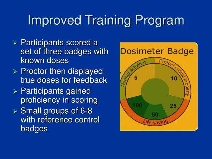 Improved Training Program