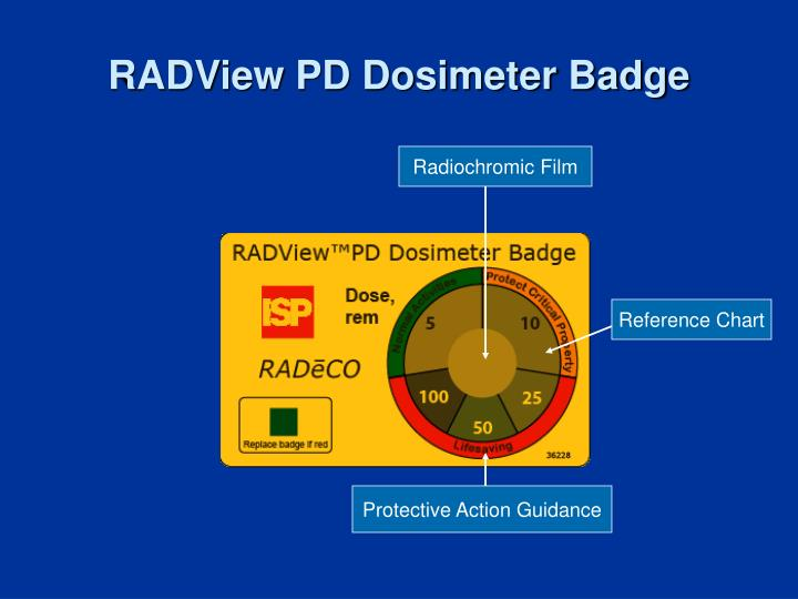 RADView PD Dosimeter Badge