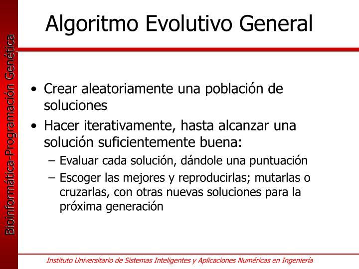 Algoritmo Evolutivo General