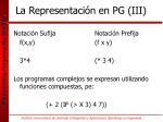 la representaci n en pg iii