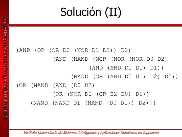 Solución (II)