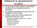 utilidad de la representaci n en rbol