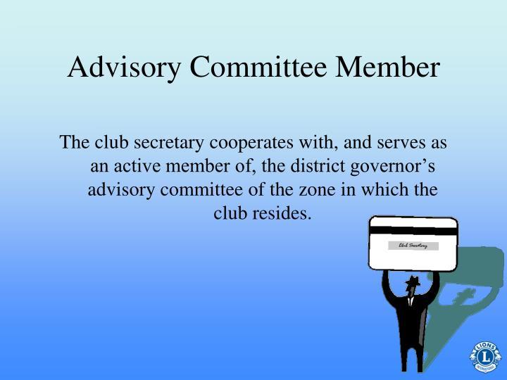 Advisory Committee Member