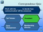 correspondence quiz2