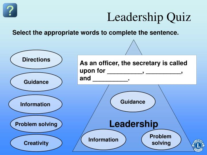 Leadership Quiz
