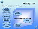 meetings quiz2