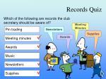 records quiz