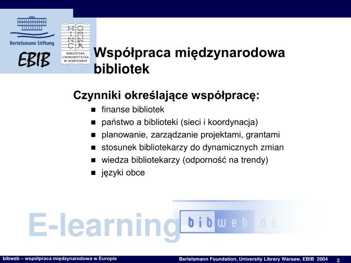 Współpraca międzynarodowa bibliotek