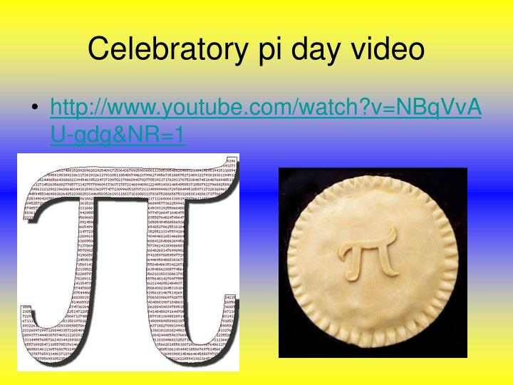 Celebratory pi day video