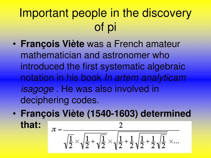Important people in the discovery of pi