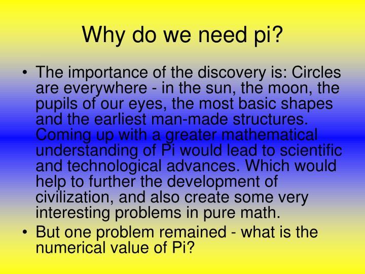 Why do we need pi?