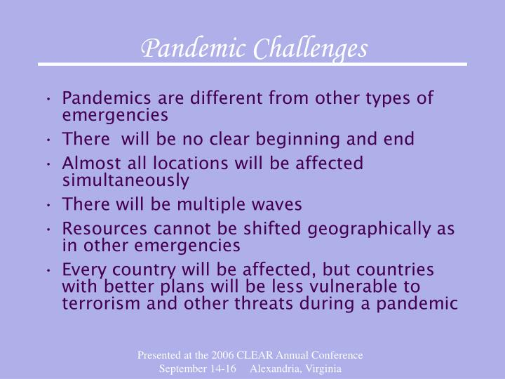 Pandemic Challenges