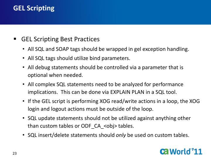 GEL Scripting