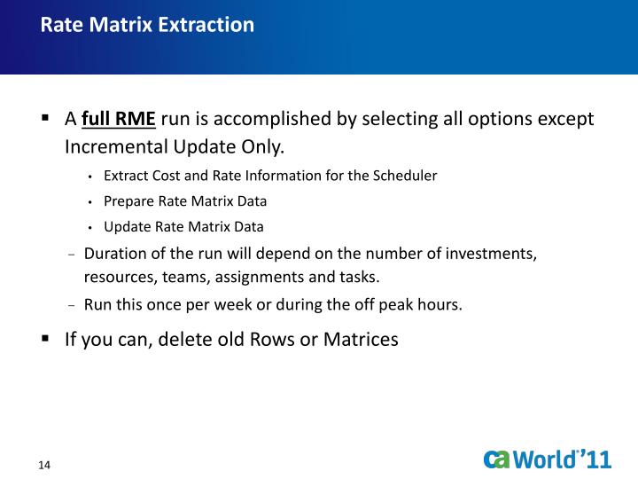 Rate Matrix Extraction