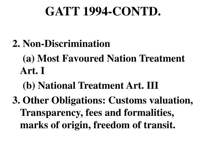 GATT 1994-CONTD.