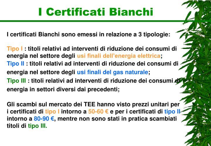 I Certificati Bianchi