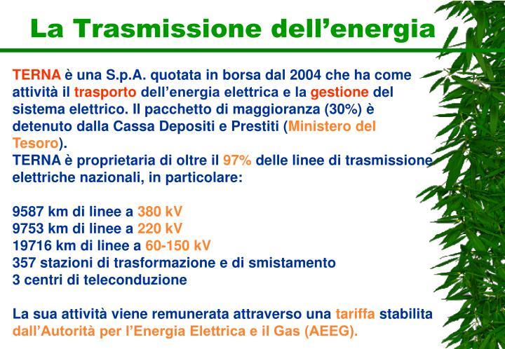 La Trasmissione dell'energia