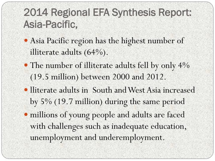 2014 Regional EFA Synthesis Report: Asia-Pacific,