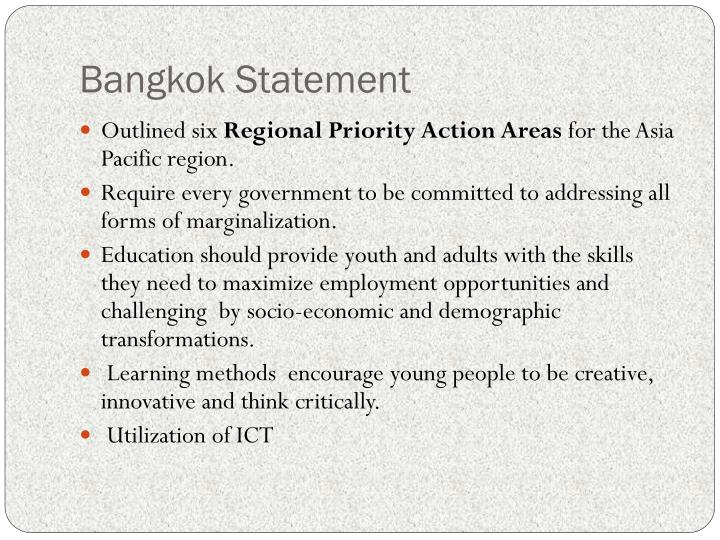 Bangkok Statement