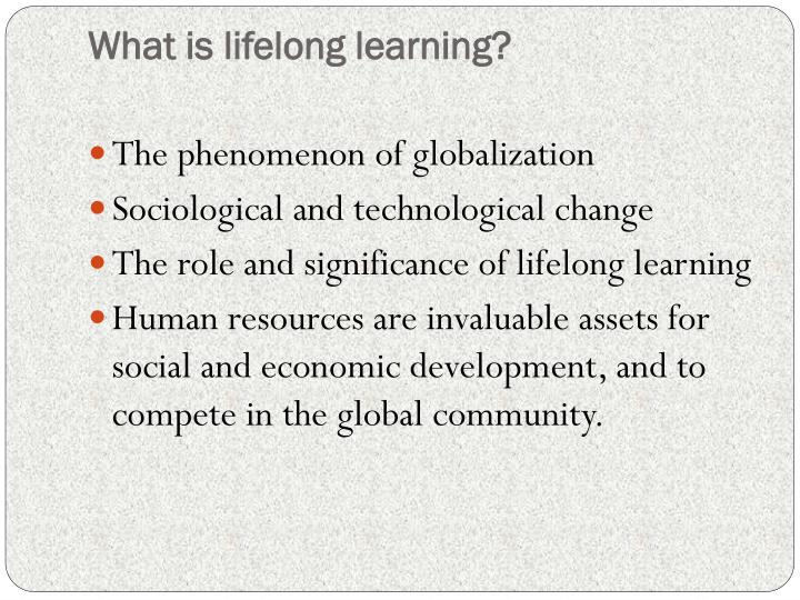 What is lifelong learning