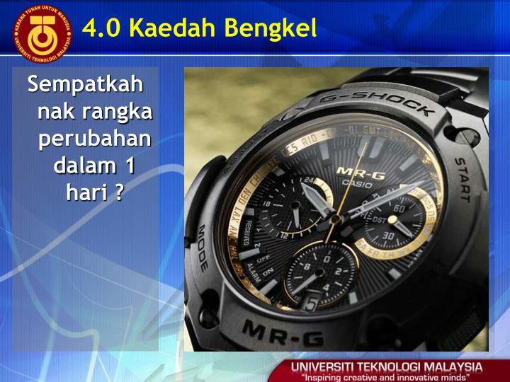 4.0 Kaedah Bengkel