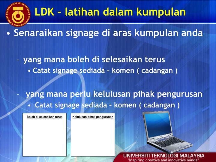 LDK – latihan dalam kumpulan