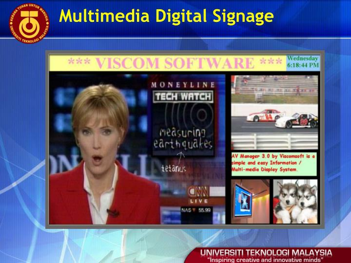 Multimedia Digital Signage