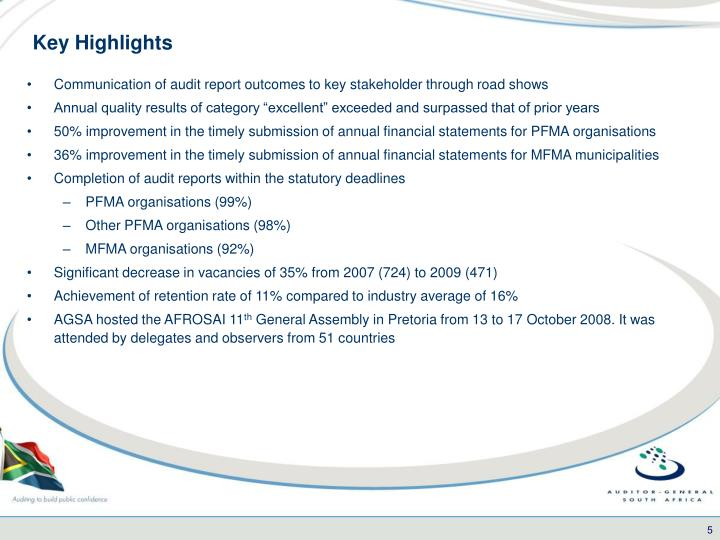 Key Highlights