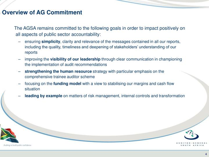Overview of AG Commitment