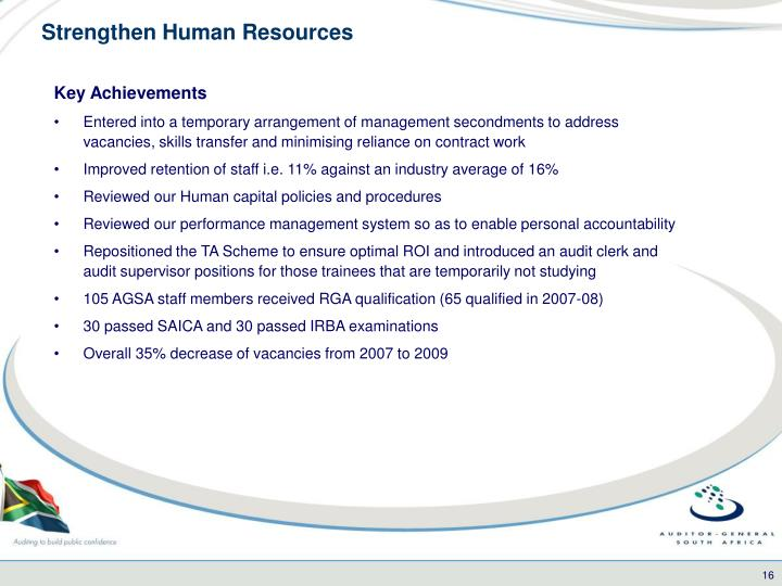 Strengthen Human Resources