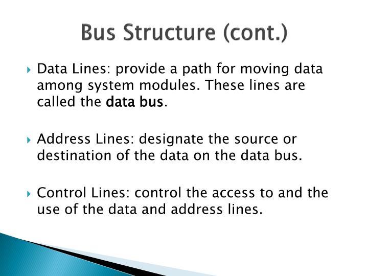 Bus Structure (cont.)